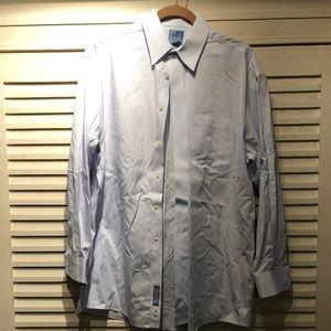 JoS. A. Bank blue striped dress shirt- 15.5x 33